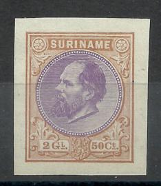Suriname   7h 2½ Gld Haarlemse Kleurproef Ongebruikt (1)