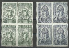 Nvph 323/324 Willibrordus blokken van 4 Postfris (1)