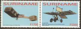 Suriname Republiek 1224/1225 100 Jaar Luchtvaart 2003 Postfris