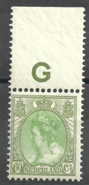 Nvph  76 60 ct  Koningin Wilhelmina Bontkraag Postfris (3)