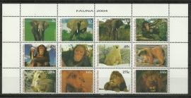Nederlandse Antillen 1495/1506 Dieren 2004 Postfris