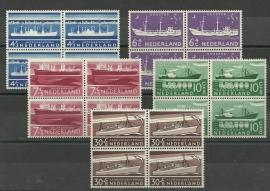 Nvph 688/692 Zomer 1957 in Blokken Postfris