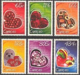 Curaçao Status Aparte 198/203 Valentijn 2014 Postfris