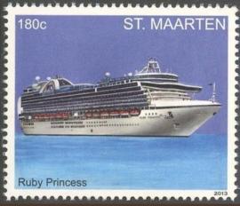 Sint Maarten 148/149 Cruiseschepen 2013 Postfris