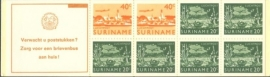 SR Postzegelboekje 3cq Postfris