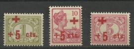 Nederlands Indië 135/137 Rode Kruis uitgifte Postfris (5)