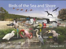 Curaçao Status Aparte  76 Blok Kust en Zeevogels 2012 Postfris