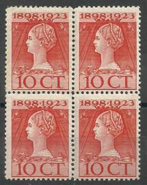 Nvph 124B 10 ct (11×11½)  Jubileum 1923 in blok Postfris (1)