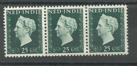 Nederlands Indië 339 PM5 in strip Postfris