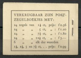 PZ 22d-N 4 × 6 (Nvph 172B) Roomkleurige Kaft + Befund