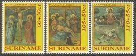 Suriname Republiek  727/729 Paasweldadigheid 1992 Postfris