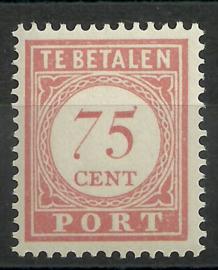 Nederlands Indië Port 37 75 ct Cijfer en waarde in rood 1913-1924 Postfris (1)