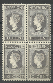 Nvph  93 10ct Jubileum 1913 blok van 4 Postfris (1)