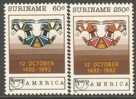 Suriname Republiek  745/746 U.P.U.E. 1992 Postfris