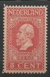 Nvph  92 5ct Jubileum 1913 Postfris
