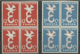 Nvph 713/714 Europa 1958 in Blokken Postfris