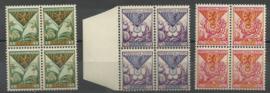 Nvph 166/168 Kinderzegels 1925 in Blokken van 4 Postfris