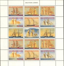 Suriname Republiek 1320/1325 Zeilschepen 2005 Postfris (Compleet Vel)