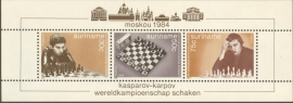 Suriname Republiek 424 Blok Schaken 1984 Postfris