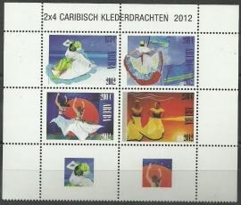Aruba 613/616 Caribische Klederdracht 2012 Postfris