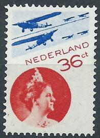 Luchtpost  9Ab (14¼ × 13¼, raster 90)  Wilhelmina Postfris (1)