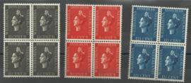 Nvph 310/312 Jubileumzegels 1938 blokken van 4 Postfris