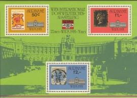 Suriname Republiek 258 Blok Int. Postzegeltent. WIPA 1981 Postfris