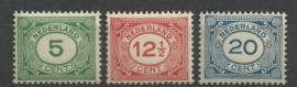 Nvph 107/109 Cijferzegels Postfris (5)