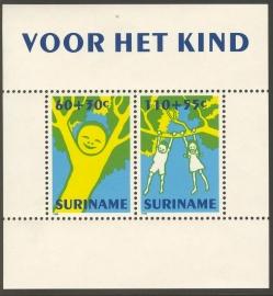 Suriname Republiek  754 Blok Kinderzegels 1992 Postfris