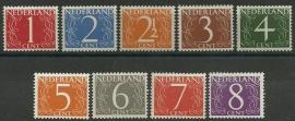 Nvph 460/468 Cijferzegels Postfris