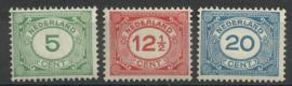Nvph 107/109 Cijferzegels Postfris (6)