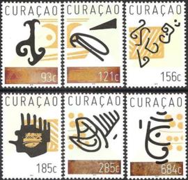 Curaçao Status Aparte 323/328 Inheemse Indiaanse Tekeningen 2016 Postfris