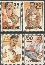 Suriname Republiek  793/796 Folklore 1994 Postfris