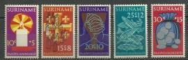 Suriname 579/583 Postfris
