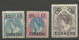 Curacao  26/28 Frankeerzegels Nederland met Overdruk Postfris (2)