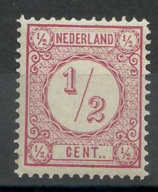Nvph  30b ½ ct Cijferzegel 1894 Postfris (1)