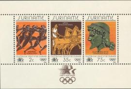 Suriname Republiek 411 Blok Olympische Spelen Los Angeles 1984 Postfris