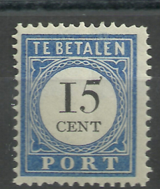 Port  24a 15ct Cijfer 1894-1910 Type I Postfris