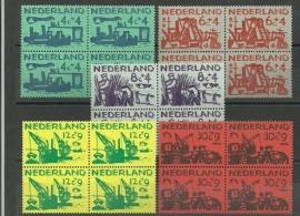 Nvph 722/726 Zomerzegels 1959 in Blokken Postfris