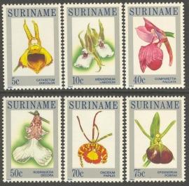 Suriname Republiek 382/387 Orchideeën 1984 Postfris