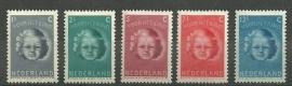 Nvph 444/448 Kinderzegels 1945 Postfris