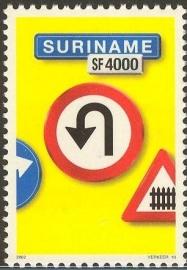 Suriname Republiek 1149 Verkeersbord 10e Uitgifte 2002 Postfris