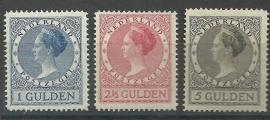 Nvph 163B/165B  (12½×12½) Koningin Wilhelmina Ongebruikt (1)