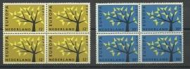 Nvph 777/778 Europa 1962 in Blokken Postfris