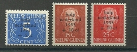 Nieuw Guinea 22/24 Watersnoodzegels Postfris
