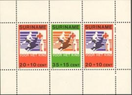Suriname Republiek 191 Blok Kinderzegels 1979 Postfris