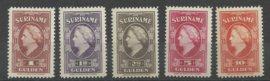 Suriname 239/243 Koningin Wilhelmina American Banknote Postfris (4)