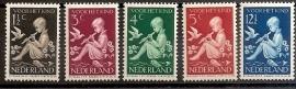 Nvph 313/317 Kinderzegels 1938 Ongebruikt
