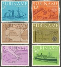 Suriname Republiek  91/96 Scheepsvaart 1977 Postfris