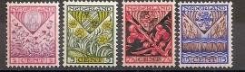 Nvph 208/211 Kinderzegels 1927 Ongebruikt